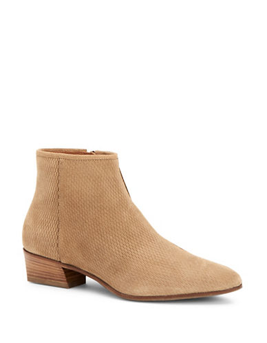 Aquatalia Fire Perforated Suede Booties-BEIGE-EUR 37.5/US 7.5