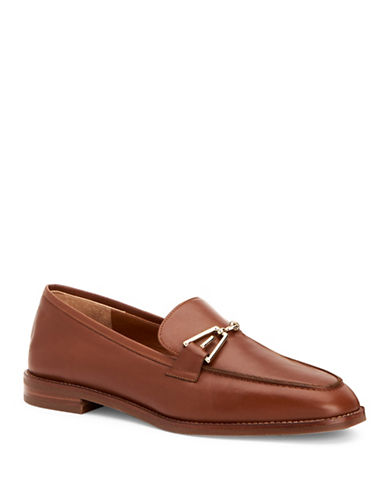 Aquatalia Teodora Leather Loafers-BROWN-EUR 38/US 8