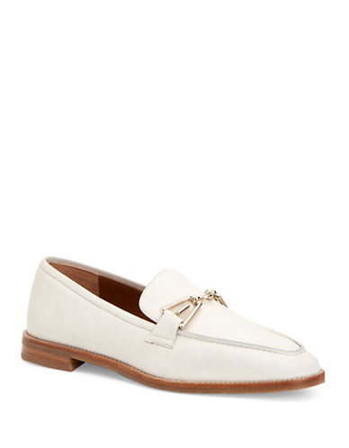 Aquatalia Teodora Leather Loafers-OFF WHITE-EUR 37/US 7