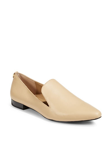 Calvin Klein Elin Leather Loafers-BEIGE-9