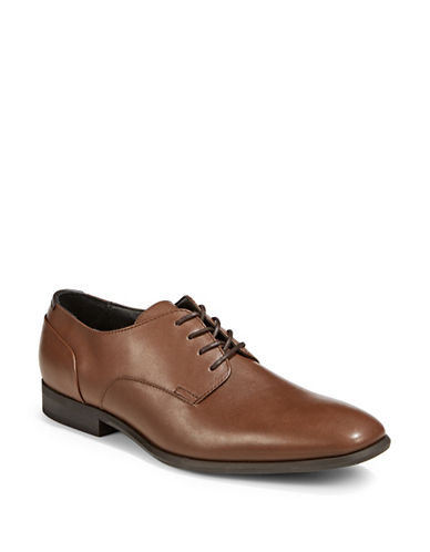 Calvin Klein Lucca Leather Derbys-TAN-7.5