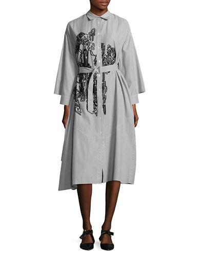 Rachel Comey Striped Shirt Dress-GREY-X-Small/Small