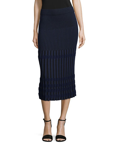 Rachel Comey Ribbed Midi Skirt-NAVY-Medium