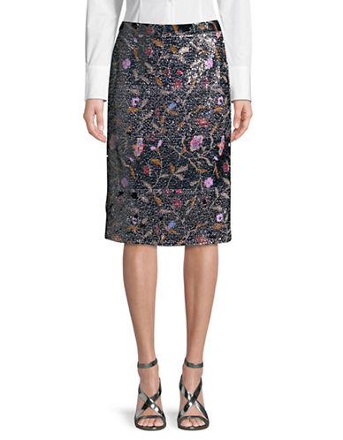 Rachel Comey Aquiline Sequin Midi Skirt-BLACK-0