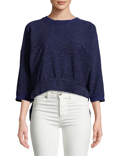 Rachel Comey Bae Cropped Top-NAVY-2