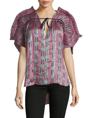 Rachel Comey Shatter Jacquard Top-PINK-2