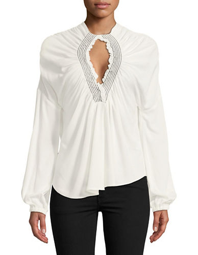 Rachel Comey Siphon Smocked Blouse-NATURAL-8