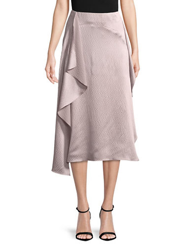 Rachel Comey Nightcap Asymmetrical Ruffled Silk Skirt-LILAC-4