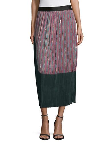Rachel Comey Ballista Jacquard Midi Skirt-PINK-2