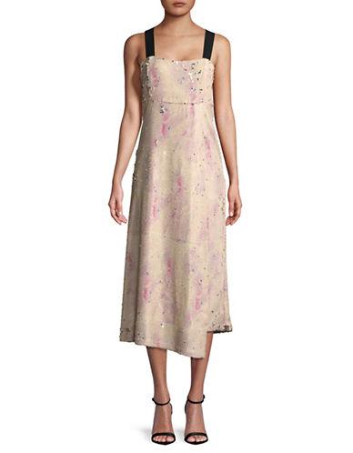 Rachel Comey Slacken Printed Sequin Dress-PINK CLOUD-4