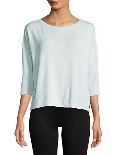 Calvin Klein Performance Quarter-Sleeve Hi-Lo Pullover-LIGHT BLUE-Small 90071503_LIGHT BLUE_Small