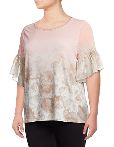 Calvin Klein Plus Floral Bell-Sleeve Top 89998313