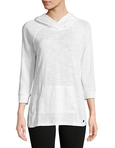 Calvin Klein Performance Quarter-Sleeve Hoodie-WHITE-Medium 90071514_WHITE_Medium