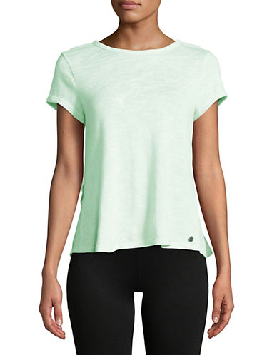 Calvin Klein Performance Overlapping Ruffle Back Tee-MINT-X-Large 90071526_MINT_X-Large