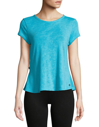 Calvin Klein Performance Overlapping Ruffle Back Tee-BLUE-Large 90071530_BLUE_Large