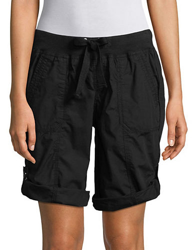 Calvin Klein Performance Convertible Cargo Bermuda Shorts-BLACK-Large 90071491_BLACK_Large