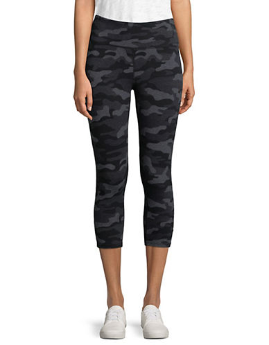 Calvin Klein Performance Printed High-Waist Crop Leggings-BLACK-Medium 90071466_BLACK_Medium