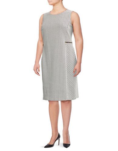 Calvin Klein Plus Plus Jacquard Chevron Sheath Dress 89810998