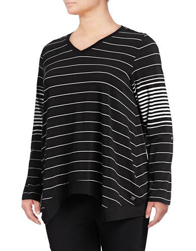 Calvin Klein Performance Plus Plus Stripe V-Neck Pullover 89808765