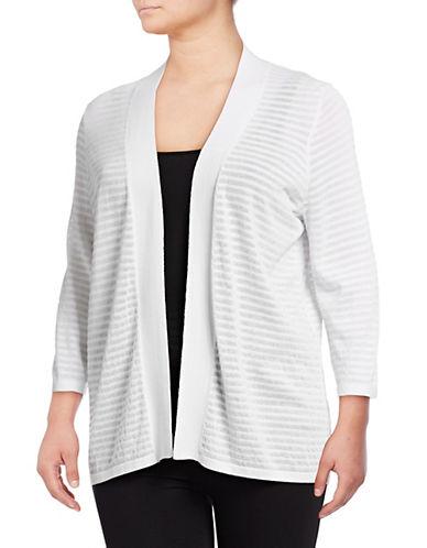 Calvin Klein Plus Shadow Stripe Cardigan 90016842