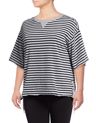 Calvin Klein Performance Plus Plus Stripe Side Lace-Up Pullover 89846300