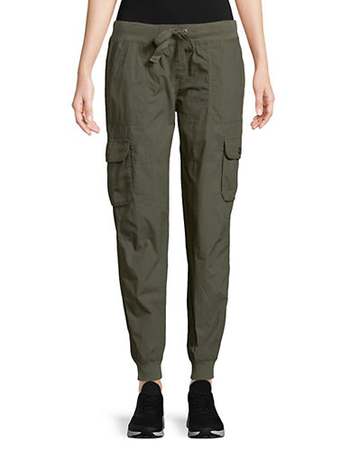 Calvin Klein Performance Ribbed Cotton Cargo Pants-GREY-Large 89959914_GREY_Large