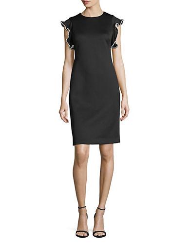 Calvin Klein Flutter-Sleeve Sheath Dress 89924839
