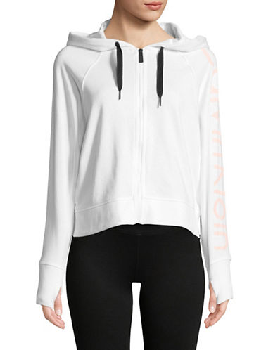 Calvin Klein Performance Full-Zip Hooded Jacket-WHITE-Medium 89959910_WHITE_Medium