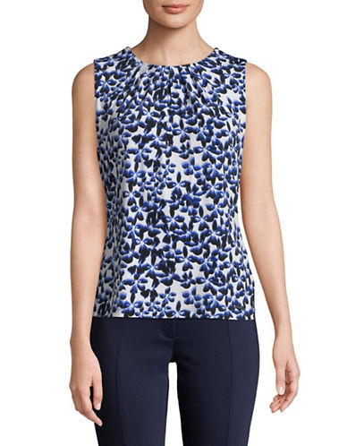 Calvin Klein Floral Sleeveless Top-BLUE-X-Small 89905425_BLUE_X-Small