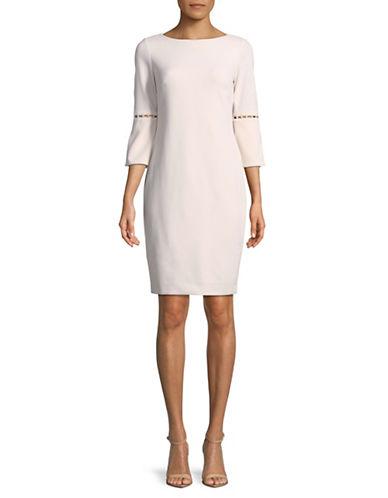 Calvin Klein Faux Pearl Inset Sheath Dress 89912123