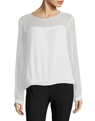 Calvin Klein Mesh Illusion Blouse-WHITE-Small 89905398_WHITE_Small