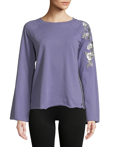 Calvin Klein Performance Embroidered Raglan-Sleeve Top 89959973