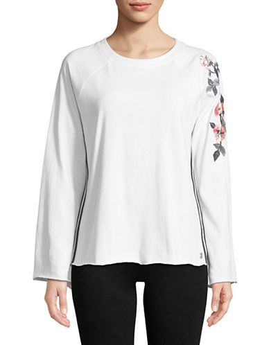 Calvin Klein Performance Embroidered Raglan-Sleeve Top 89959964