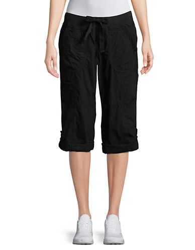 Calvin Klein Performance Quick-Dry Cargo Capris-BLACK-X-Small 89959928_BLACK_X-Small