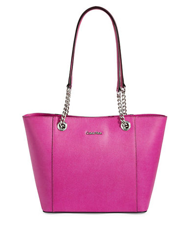 Calvin Klein Hayden Zip Leather Tote 90039277