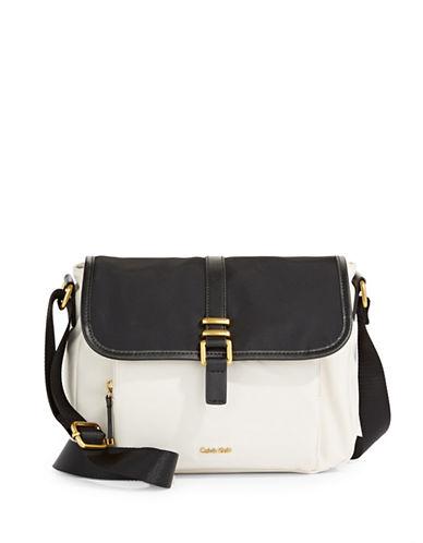 Calvin Klein Naomi Messenger Bag-WHITE/BLACK-One Size 89997930_WHITE/BLACK_One Size