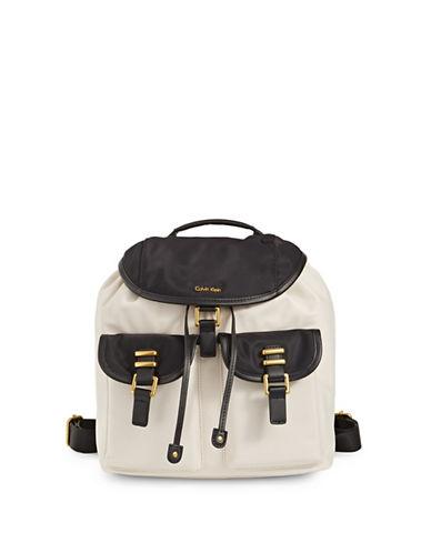 Calvin Klein Naomi Barley Backpack-WHITE/BLACK-One Size 89997934_WHITE/BLACK_One Size