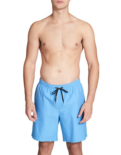Calvin Klein Essential Solid Swim Trunks-BLUE-Large