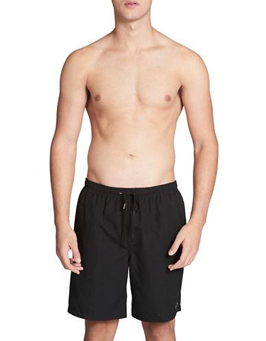 Calvin Klein Essential Solid Swim Trunks-BLACK-Medium