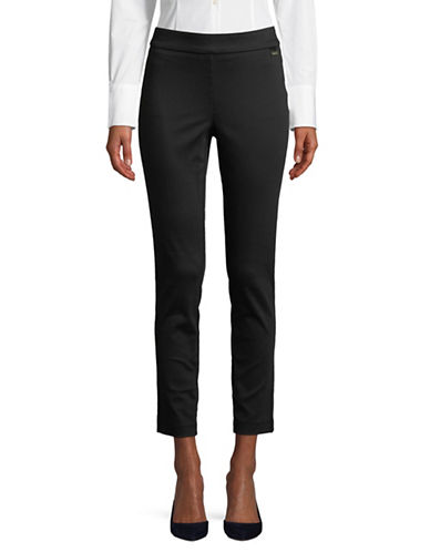 Calvin Klein Cropped Leg Pull On Pants-BLACK-Medium 89827986_BLACK_Medium