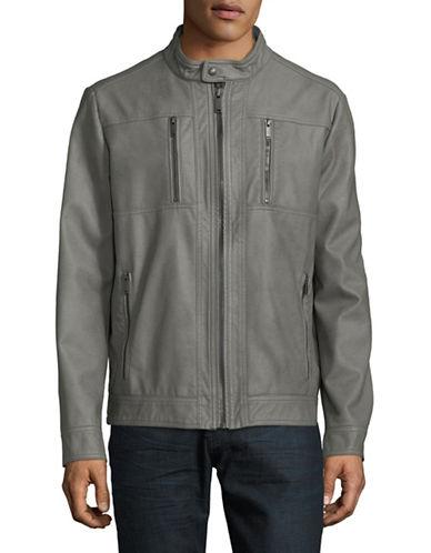 Calvin Klein Full-Zip Mock Neck Jacket-GREY-XX-Large 90009534_GREY_XX-Large