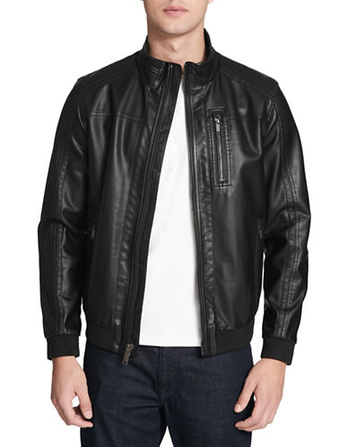 Calvin Klein Seamed Zip-Front Bomber Jacket-BLACK-Small 89821365_BLACK_Small