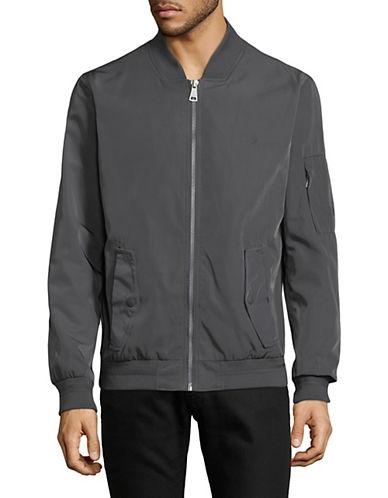 Calvin Klein Prato Twill Bomber Jacket-GREY-XX-Large 90009529_GREY_XX-Large
