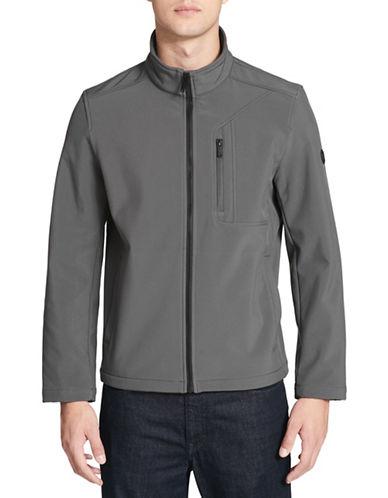 Calvin Klein Soft Shell Zip-Front Jacket-GREY-Large 89821290_GREY_Large