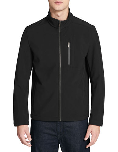 Calvin Klein Soft Shell Zip-Front Jacket-BLACK-Medium 89821297_BLACK_Medium
