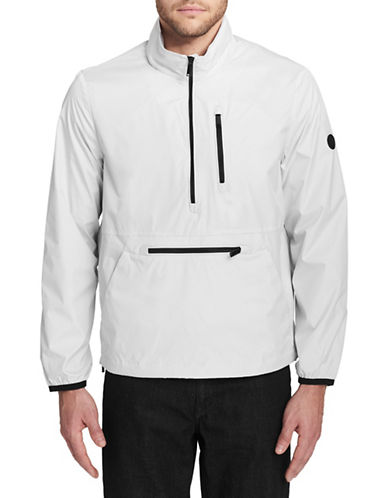 Calvin Klein Hooded Packable Pullover-WHITE-Medium 89821313_WHITE_Medium