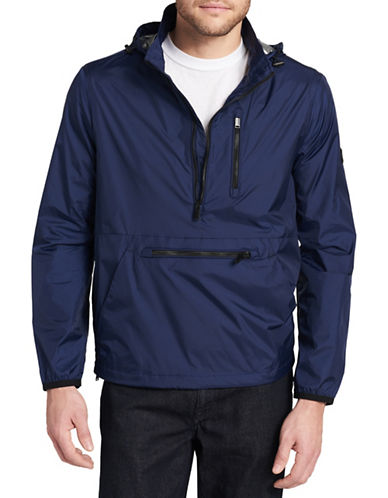 Calvin Klein Hooded Packable Pullover-BLUE-Small 89821320_BLUE_Small