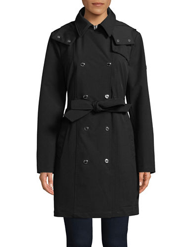 Calvin Klein Stretch Soft Shell Belted Jacket-BLACK-Medium 89839895_BLACK_Medium