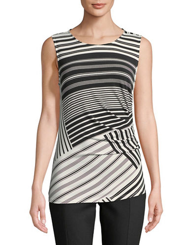 Calvin Klein Sleeveless Ruched Top-ASSORTED-X-Large