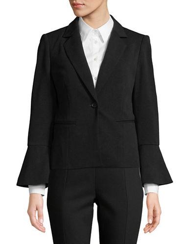 Calvin Klein Flare Sleeve Blazer-BLACK-16